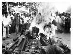 Buddha burning